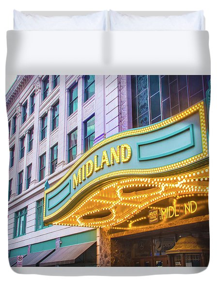 Midland Theater Duvet Cover by Pamela Williams