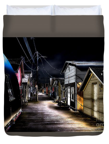Midnight At The Boathouse Duvet Cover