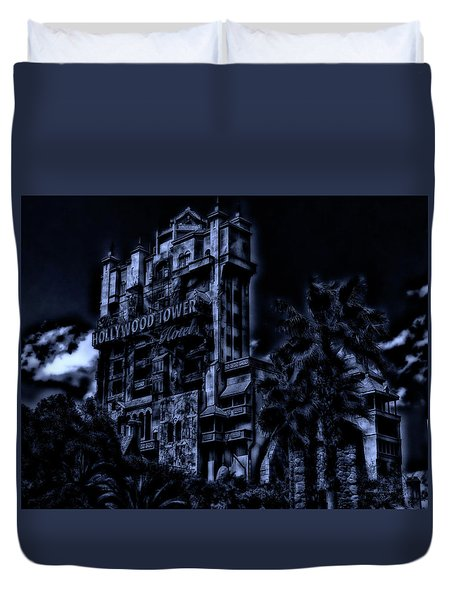 Midnight At The Tower Of Terror Mp Duvet Cover