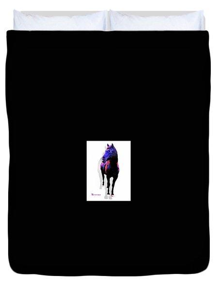 Midnight Black Stallion Duvet Cover
