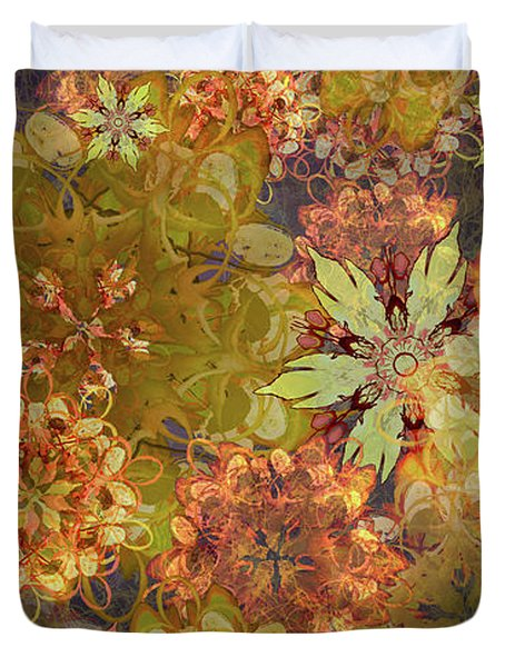Midnight Blossom Bouquet Duvet Cover