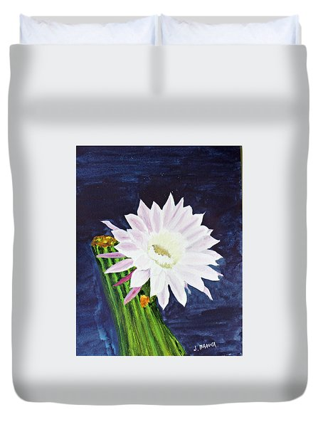 Duvet Cover featuring the painting Midnight Blossom by Jack G  Brauer