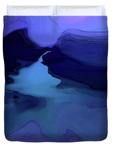 Midnight Blue Duvet Cover