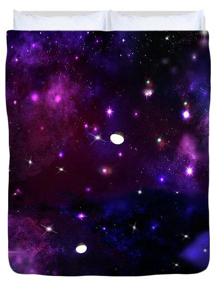 Midnight Blue Purple Galaxy Duvet Cover