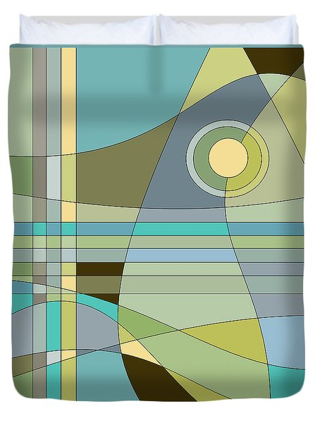 Midnight Breeze Duvet Cover by Val Arie