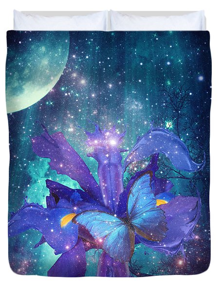 Midnight Butterfly Duvet Cover