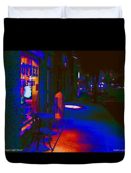 Midnight Coffee Dream Duvet Cover