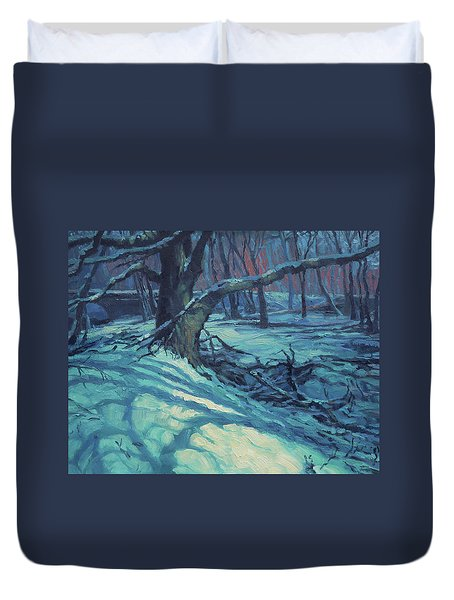 Midnight Coppei Duvet Cover