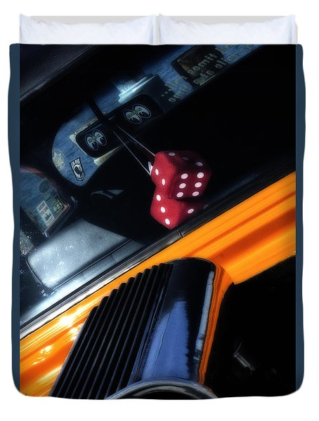 Midnight Dice In A Hot Rod Duvet Cover