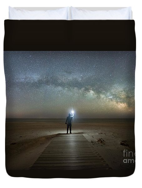 Midnight Explorer At Assateague Island Duvet Cover