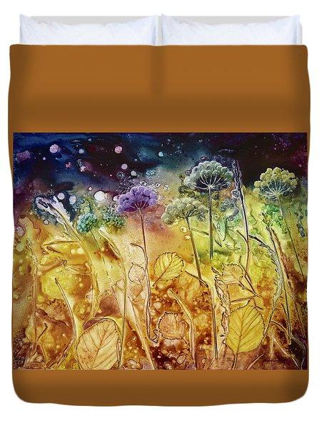 Midnight Flowers Duvet Cover