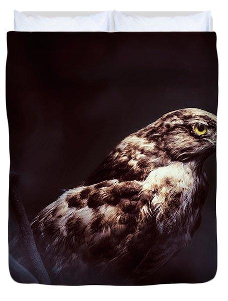 Midnight Hawk Duvet Cover