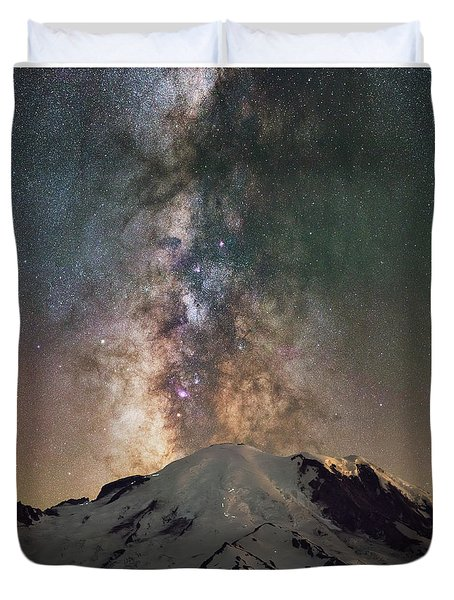 Midnight Hike  Duvet Cover