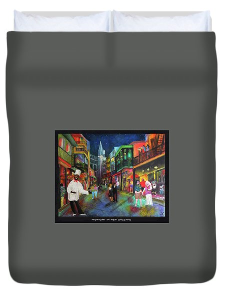 Midnight In New Orleans Duvet Cover
