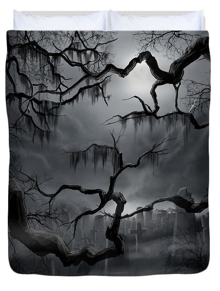 Midnight In The Graveyard II Duvet Cover
