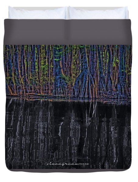 Midnight In The Land Of Hobbits And Faeries Duvet Cover