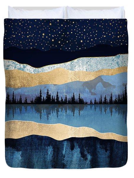Midnight Lake Duvet Cover