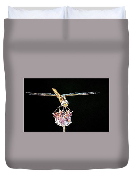 Midnight Landing Duvet Cover