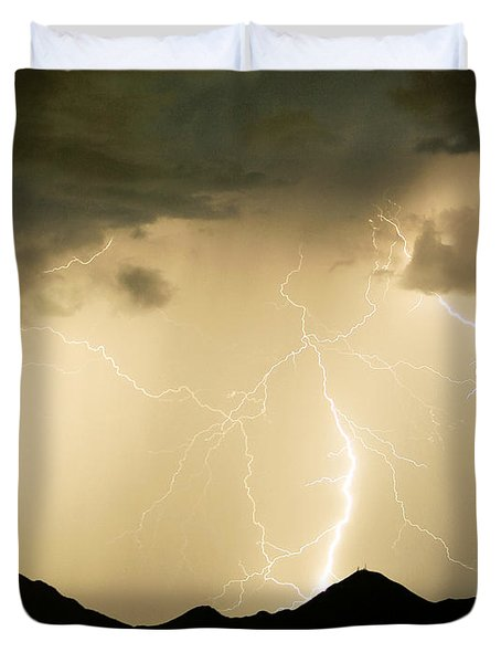 Midnight Lightning Storm Duvet Cover by James BO  Insogna