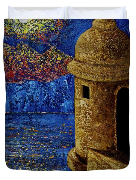 Midnight Mirage In San Juan Duvet Cover