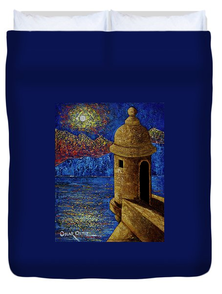 Midnight Mirage In San Juan Duvet Cover