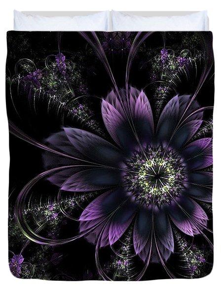 Midnight Mistletoe Duvet Cover