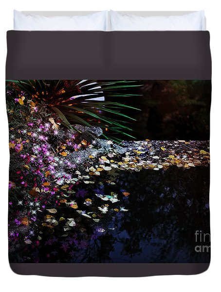 Midnight Oasis Duvet Cover