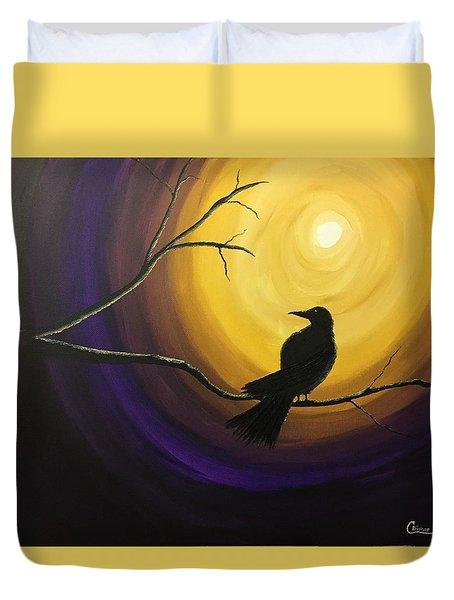Midnight Raven Duvet Cover