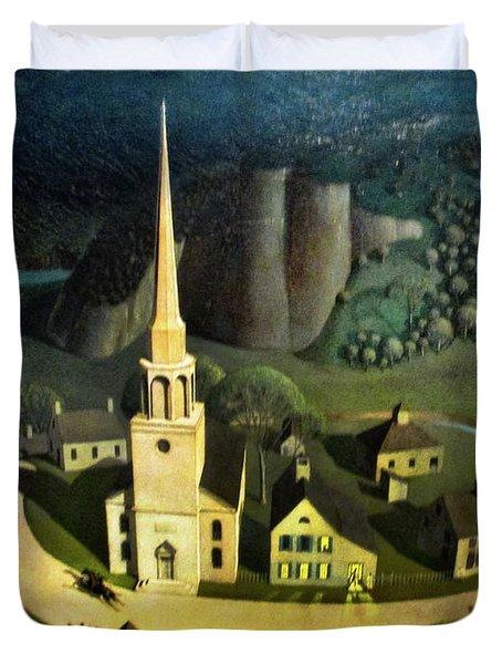 Midnight Ride Of Paul Revere Duvet Cover