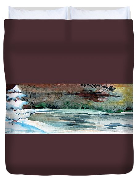 Midnight Rider Duvet Cover by Mindy Newman