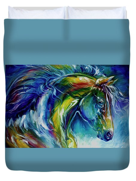 Midnight Run Equine Duvet Cover
