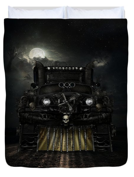 Duvet Cover featuring the digital art Midnight Run by Shanina Conway