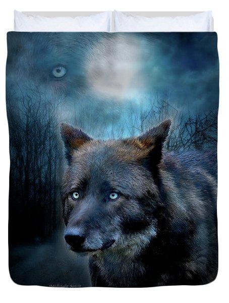 Midnight Spirit Duvet Cover by Carol Cavalaris