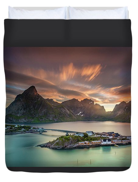Midnight Sun Galore Duvet Cover