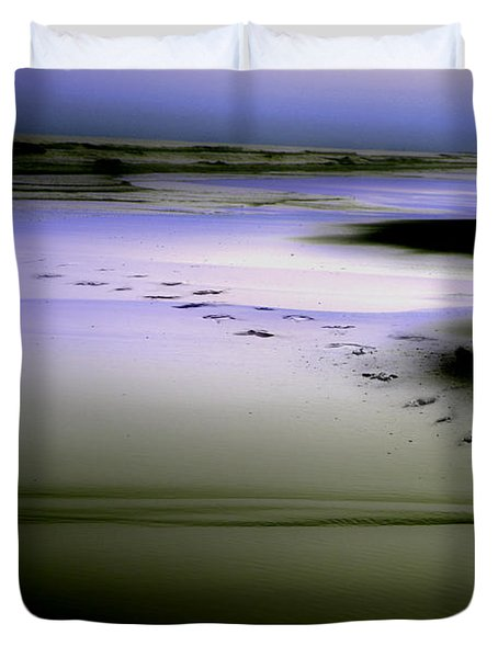 Midnight Swim Duvet Cover by Gray  Artus