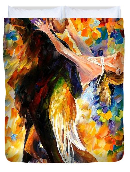Midnight Tango Duvet Cover by Leonid Afremov