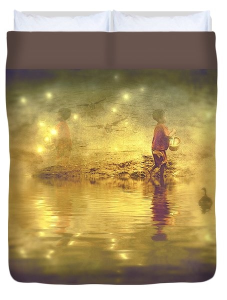 Midnight Treasure I Duvet Cover