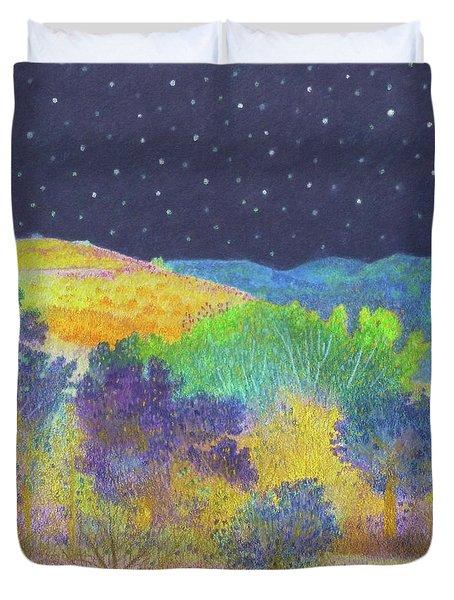 Midnight Trees Dream Duvet Cover