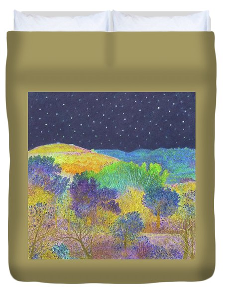 Midnight Trees Dream Duvet Cover