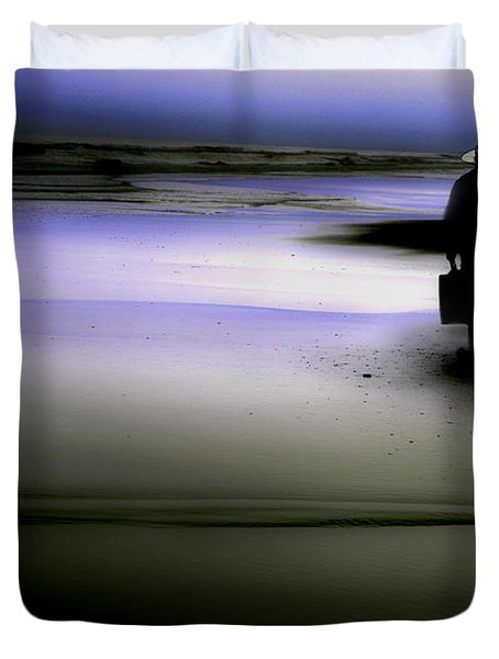 Midnight Wanderer Duvet Cover by Gray  Artus