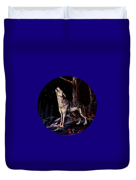 Midnight Wolf Duvet Cover by Ruanna Sion Shadd a'Dann'l Yoder