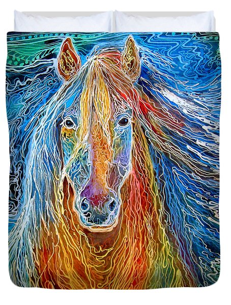 Midnightsun Equine Batik Duvet Cover
