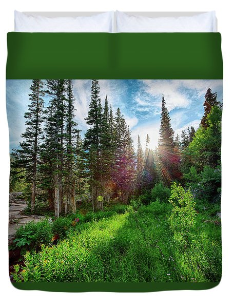 Duvet Cover featuring the photograph Midsummer Dream by David Chandler