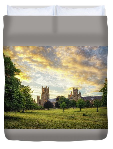 Duvet Cover featuring the photograph Midsummer Evening In Ely by James Billings
