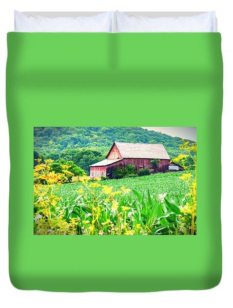 Duvet Cover featuring the photograph Midsummer  by Kendall McKernon