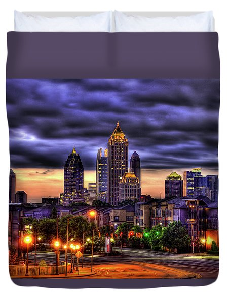 Midtown Atlanta Towers Over Atlantic Commons Duvet Cover