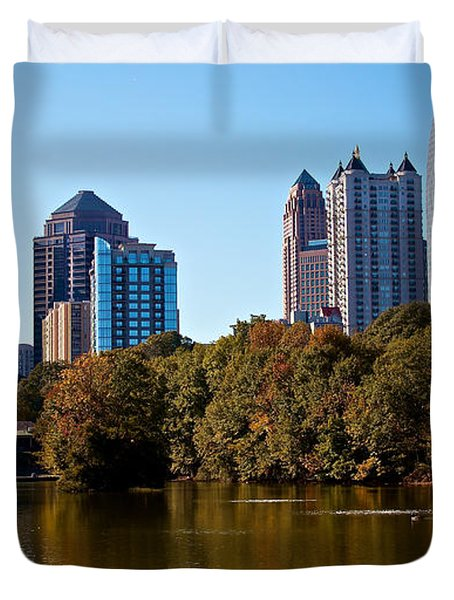 Midtown In The Fall Duvet Cover