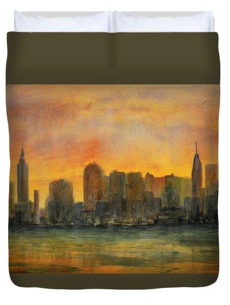 Midtown Morning Duvet Cover