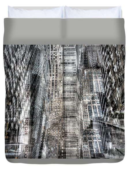 Duvet Cover featuring the photograph Midtown Sidestreet by Dave Beckerman