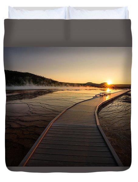 Midway Basin Sunset Duvet Cover by Dan Mihai